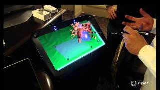 Demo: zSpace Immersive, 3D Display Technology at SC13(In this video, Barton Fiske from ZSpace demonstrates the company's immersive 3D display technology. Sign up for our newsletter: ..., 2013-11-20T14:15:58.000Z)