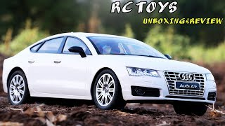 AUDI A7 RCCARS  UNBOXING & REVIEW |  TOYS CARS REMOTE  CONTROL | VIDEO FOR KIDS| RC SPORTS CARS