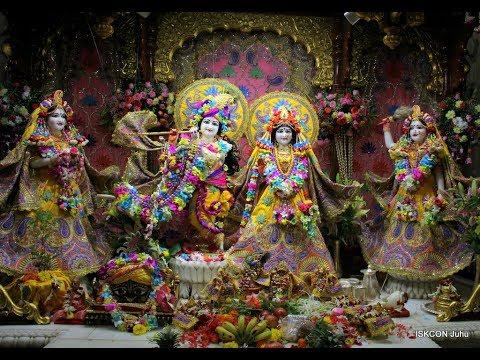 Krishna Janmashtami 2018 Day 2   Sri Sri Radha Rasbihari Temple Live ISKCON Juhu Mumbai