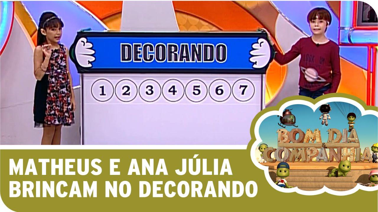 Bom Dia E Cia: Matheus E Ana Júlia Brincam No