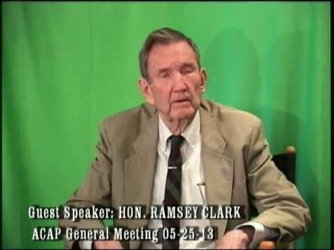 Ramsey Clark Guest Speaker ACAP   05-2713