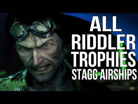 Batman Arkham Knight - All Riddler Trophies - Stagg Airships