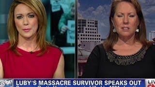Massacre survivor defends gun rights