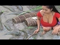 Sexy Women Young Lady Fishing Cambodia How to Catch Fish Traditional Fishing and Sexy Girl