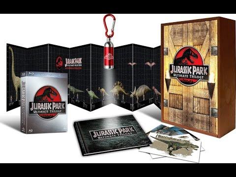 Распаковка Blu-ray трилогия Парк юрского периода коллекционное издание / Jurassic Park Holzbox