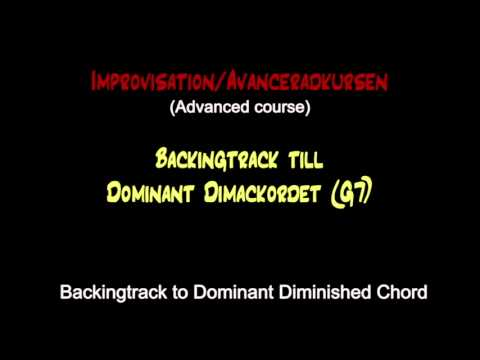 Backing track / The Dominant Diminished scale