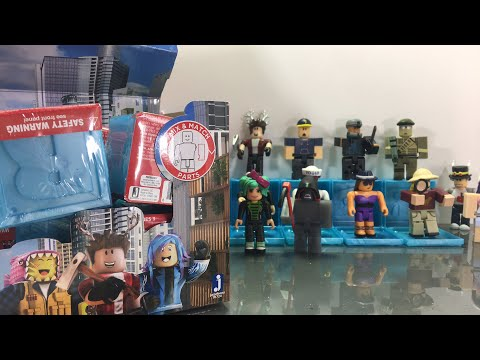 Unboxing Roblox Toys and Giving YOU the Codes! - Blue Blind Boxes