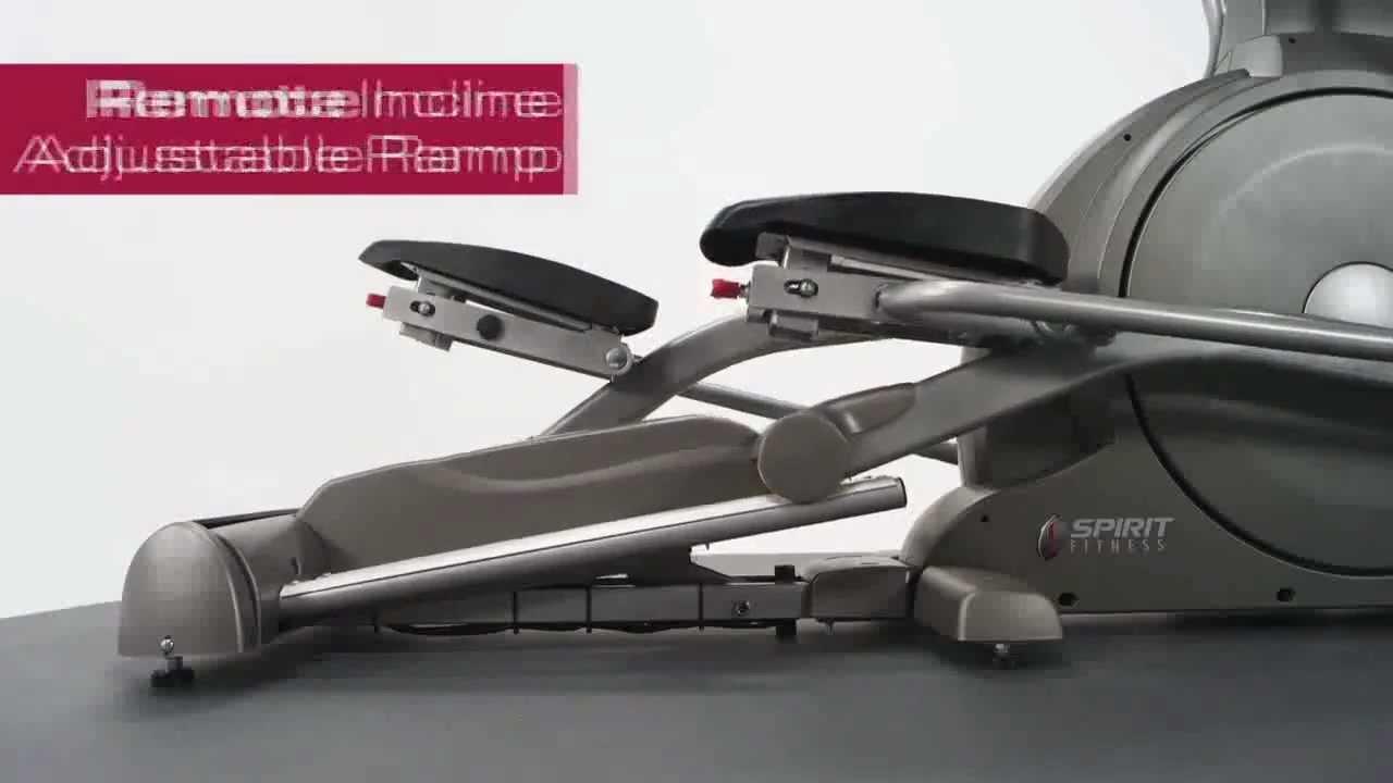 spirit xe elliptical incline ramp fitness direct youtube. Black Bedroom Furniture Sets. Home Design Ideas