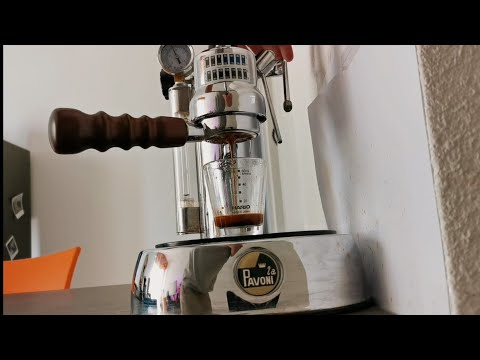 My Morning Coffee With My La Pavoni Lever Machine