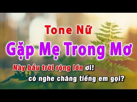 Gặp Mẹ Trong Mơ Karaoke Tone Nữ