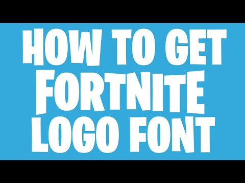 How to Get Fortnite Logo Font - YouTube