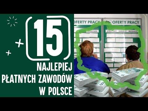 15 NAJLEPIEJ PŁATNYCH ZAWODÓW W POLSCE
