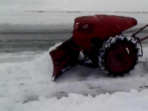 david bradley super power plowing snow 3