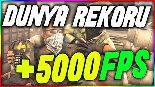 CSGO DÜNYA FPS REKORU! +5000 FPS   YOK ARTIK!