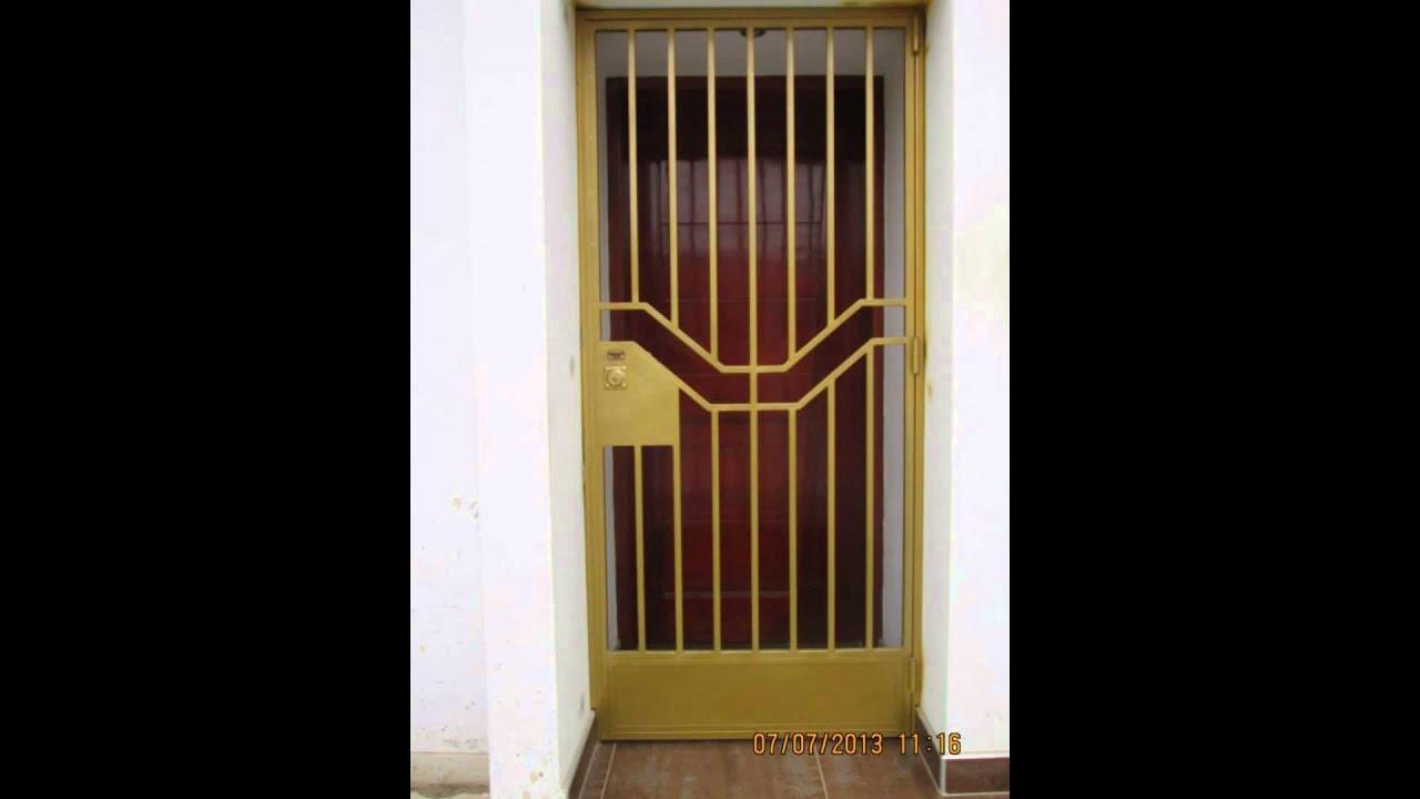 Puertas modernas de metal youtube - Disenos puertas de madera exterior ...