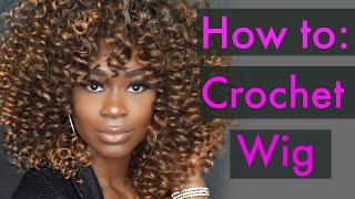 How to: Sunkissed Ombre Crochet Wig with Perfect Curls!