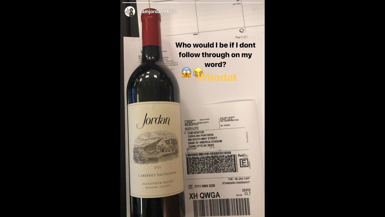 9f9849dc Jordan Cameron of Saints troll Cam Newton with wine bottle - YouTube