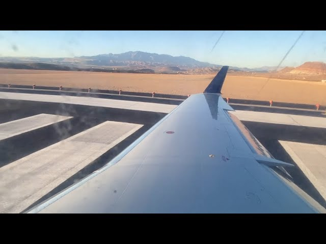 New Runway – Delta Connection CRJ-200 Evening Takeoff from St. George