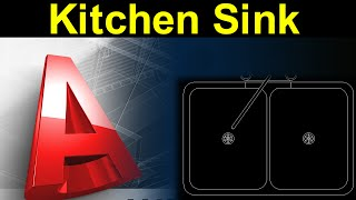 Autocad Tutorial:Kitchen Sink Design with Actual Dimension