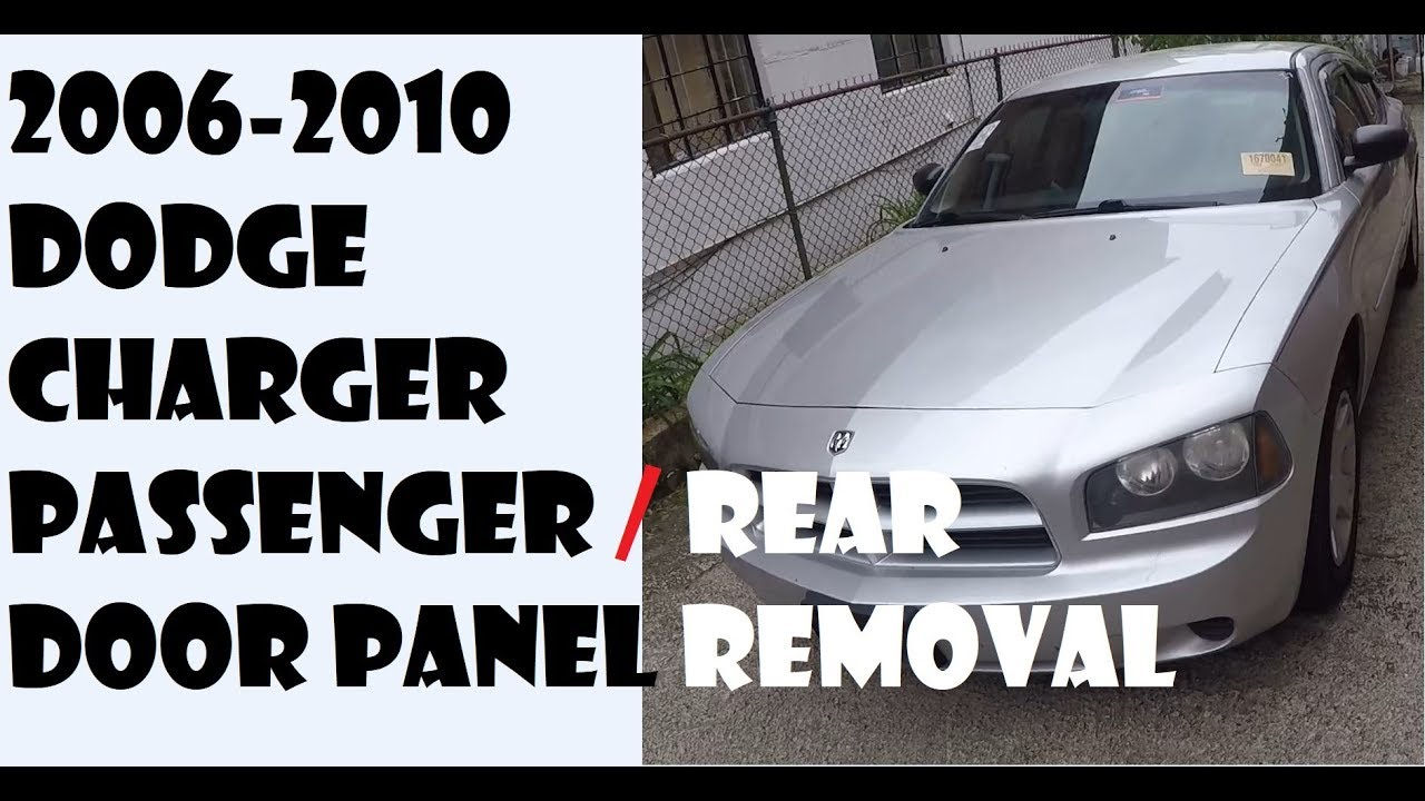 fuse panel diagram for 2007 dodge charger how to remove door panel in dodge charger 2006 2010 youtube  remove door panel in dodge charger