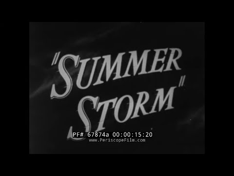"""1939 WESTINGHOUSE ELECTRIC  """" SUMMER STORM """"  ELECTRICAL GRID & POWER DISTRIBUTION FILM  67874a"""