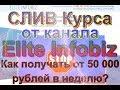 Обзор курса от Elite Infobiz | 50 000 р. в неделю мошеннический курс