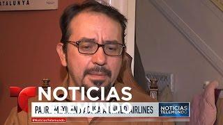 Mexicano acusado por error de tráfico humano en vuelo de United Airlines | Noticiero | Noticias Tele