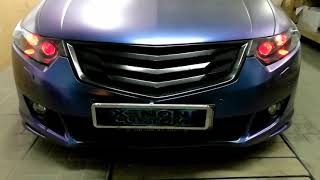Тюнинг фар Хонда Аккорд (Honda Accord) замена линз / установка линз / подсветка линз / ретрофит