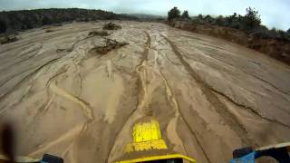 3/28/11 - End of Quatal Canyon Wash, big wheelie.