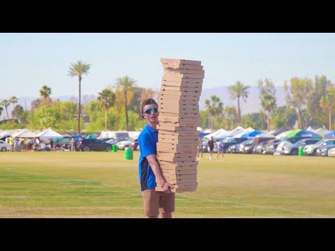 Frat Guys Try to Sneak into Coachella as Pizza Boys