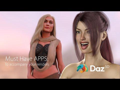 Daz Studio: Must have apps and websites
