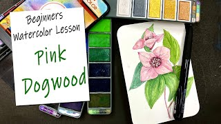 How to Paint a Watercolor Dogwood Flower - Beginners Ink and Wash screenshot 5