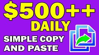 Make Money Online With a Simple Copy and Paste technique | Make $500 Daily!