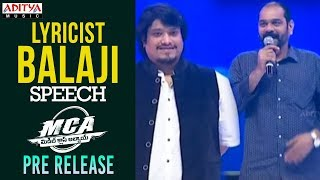 Lyricist Balaji Speech @ MCA Pre Release Event || Nani, Sai Pallavi || DSP