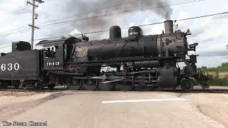 Illinois Railway Museum: Frisco 1630 Under Steam IRM Steam