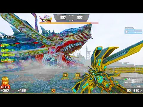Counter-Strike Nexon: Zombies - Megalodon Zombie Boss Fight (Hard9) gameplay on Rendezvous map