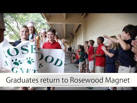 Graduates Visit Rosewood Magnet School