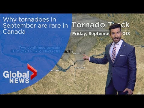 Rarity of tornadoes in Canada in September