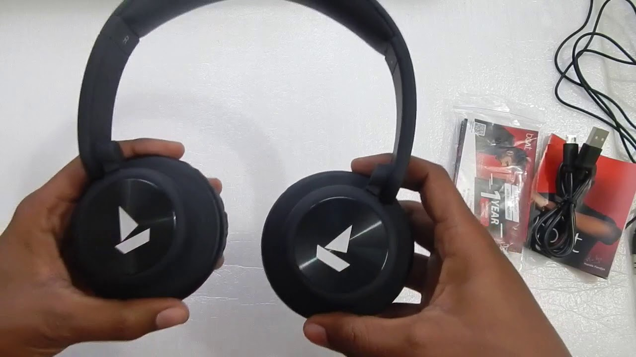 Boat Rockerz 450 Wireless Bluetooth Headphone Unboxing Review Youtube