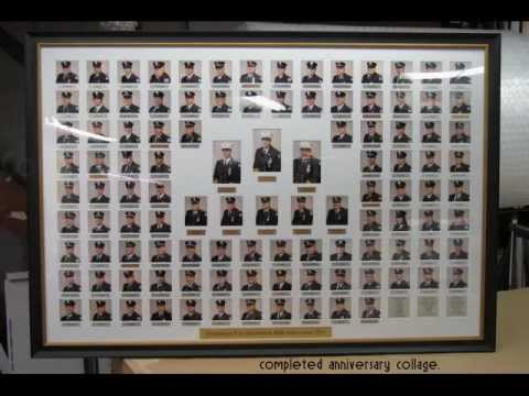 Creating a large collage frame to honor the Hauppauge NY Fire Department