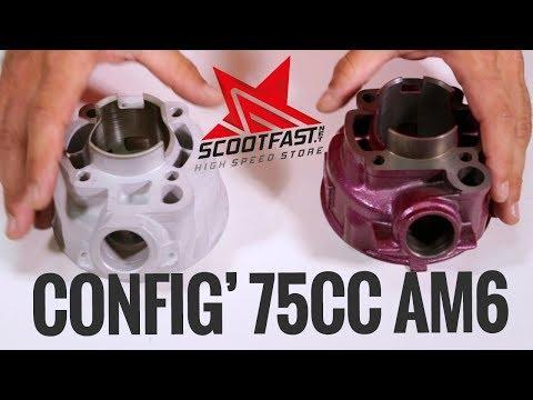 "Configuration engin 75cc ""all days"" for Minarelli AM6"