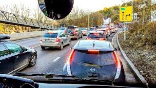 Elbil vs. trafikken på Mosseveien E18 Oslo (Xiaomi Yi Dashcam)