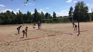 Пляжный волейбол.  Первая  игра.  Стрим.