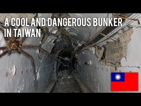 A dangerous abandoned Bunker in Taiwan full of giant Spiders and Bats