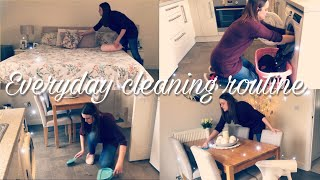 EVERYDAY SPEED CLEANING ROUTINE | KEEPING ON TOP OF THE HOUSEWORK | MUM/MOM OF TWO