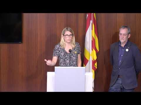 Elsa Artadi i Jordi Coronas presenten una iniciativa municipal d'ERC i JuntsxCat