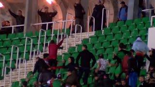 بالفيديو.. جمهور مولودية الجزائر يشتبك مع الأمن عقب الخسارة - صحيفة صدى الالكترونية
