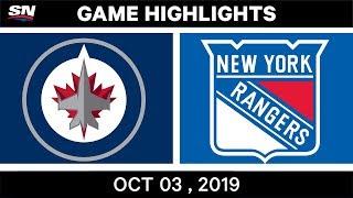 NHL Highlights | Jets Vs. Rangers - Oct. 03, 2019