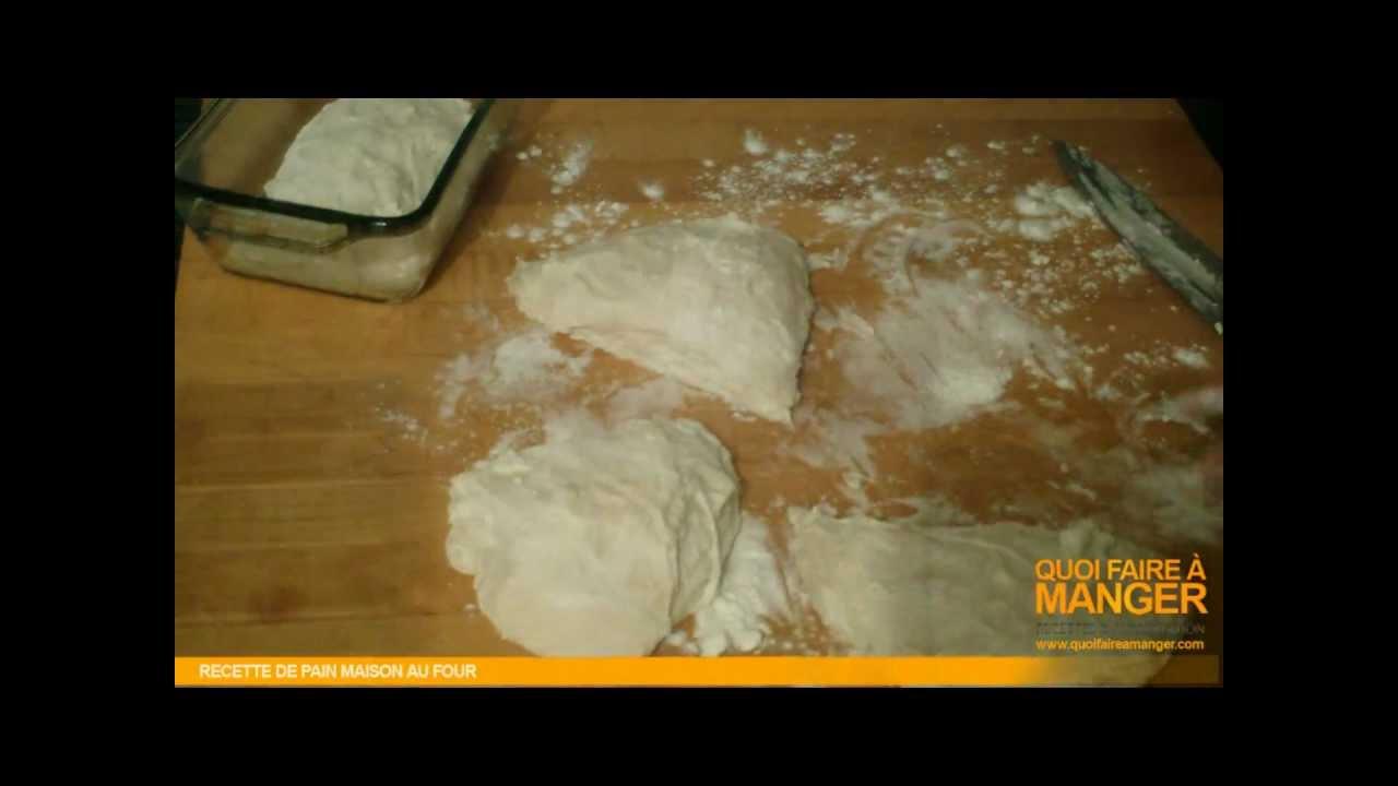 recette de pain maison au four pain cro t recette youtube. Black Bedroom Furniture Sets. Home Design Ideas