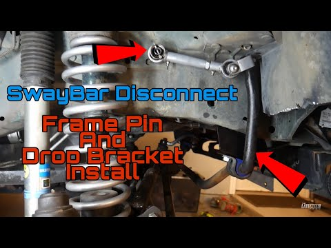 Sway Bar Drop Bracket And Quick Disconnect Pin Installation Rubicon Express Jeep Cherokee Xj
